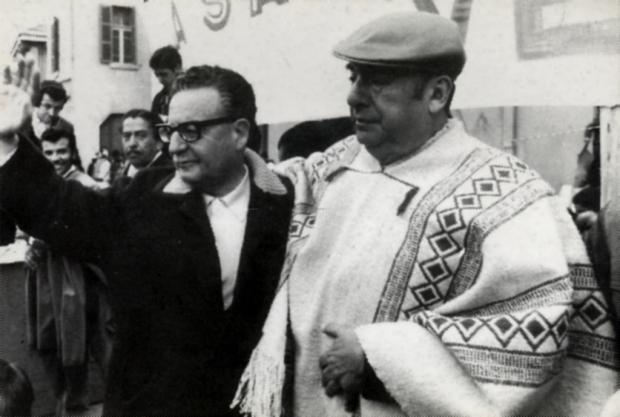 Allende y Neruda, antes del fatídico septiembre de 1973.