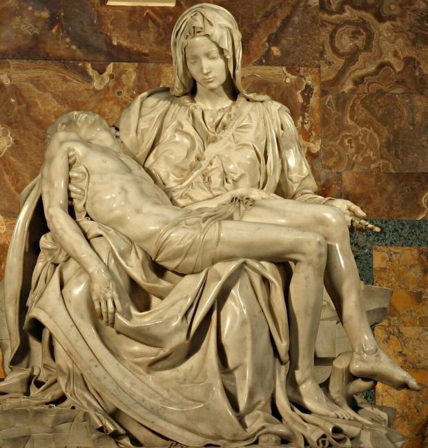 """""""La Piedad"""" de Miguel Ángel, el ejemplo perfecto para representar la escultura."""