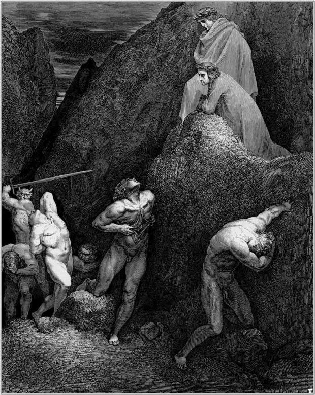 """""""La Divina Comedia"""" de Dante Alighieri es un ejemplo de bellas artes, aunque las ilustraciones de Doré para la obra también lo son."""