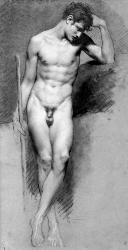 """""""Hombre desnudo de pie"""", de Pierre Paul Prud"""