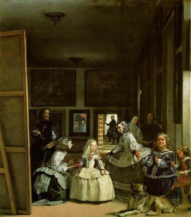 Las Meninas de Velázquez representan a la pintura en esta publicación.