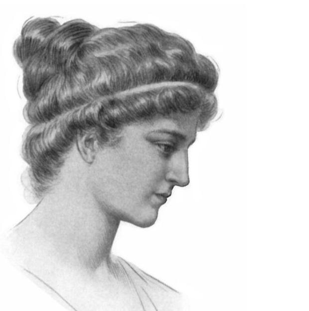 Hipatia, grabado del siglo XIX.