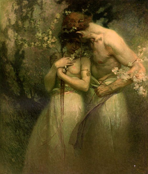 """Noche de Primavera"" de Alphonse Mucha, 1910."