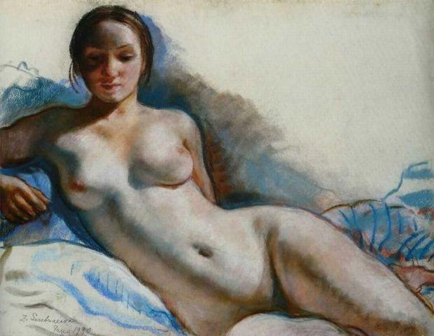 Nude, 1930, Zinaida Serebriakova - Art