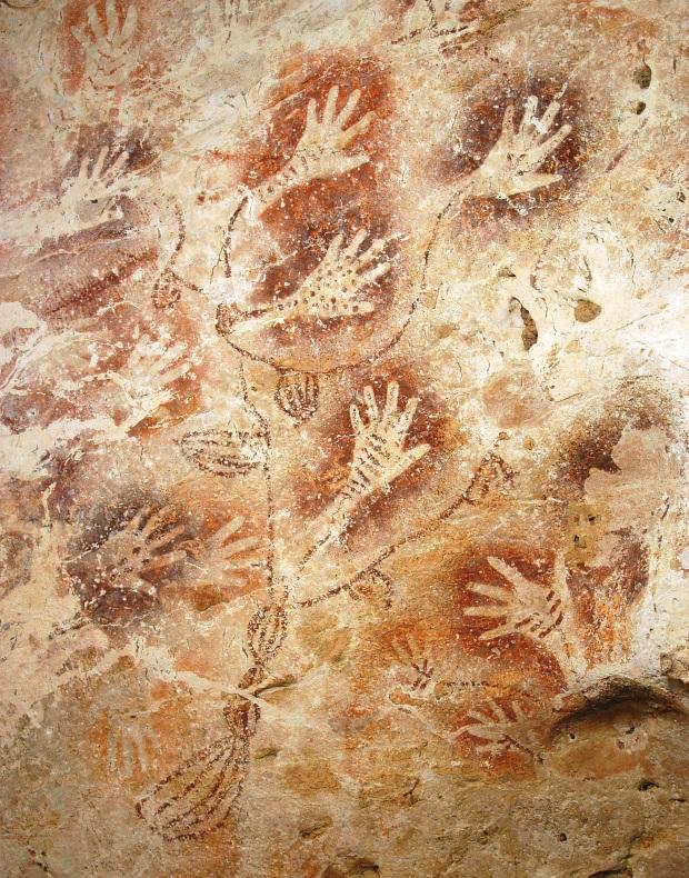 """Pintura de Gua Tewet. Los que la descubrieron le apodaron """"El Árbol de la Vida""""."""