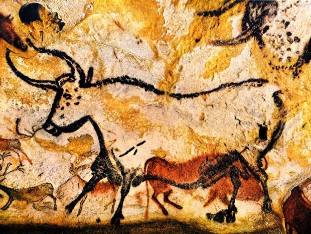 Una de muchas pintura en la cueva de Lascaux.