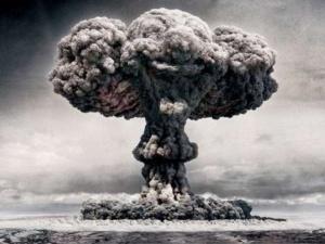 """La explosión nuclear. Esta foto se dice que es de """"Fat Man"""", la bomba que cayó en Nagasaki"""
