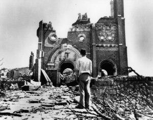 Registro fotográfico del daño en Hiroshima